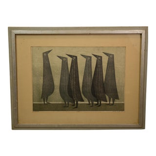Charles Smith Original Woodblock Print