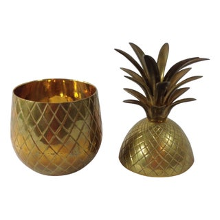 Hollywood Regency Brass Pineapple
