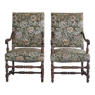 Danish Ricoco Style Two Armchairs