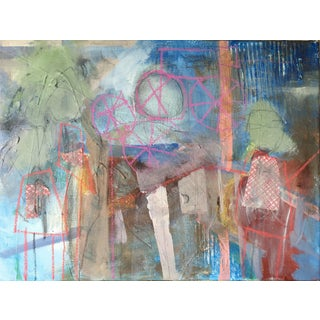 "Abstract ""Two Many"" Mixed Media on Canvas Painting"