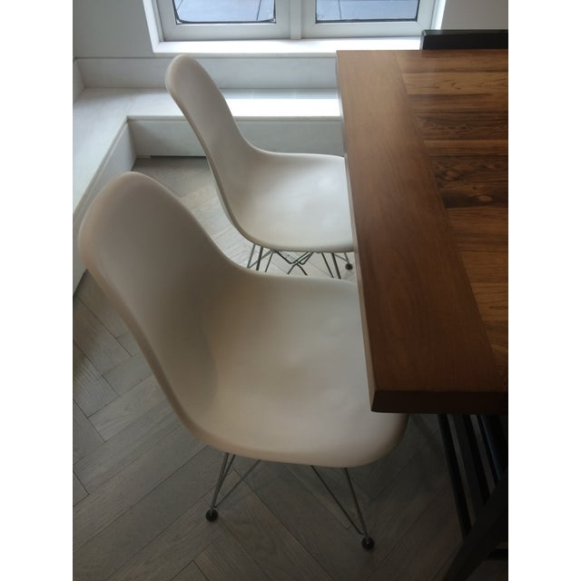 Eames Chrome Eiffel Base Side Chairs - A Pair - Image 4 of 8