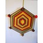 Image of Boho Handwoven Mandala Wool Wall Hanging