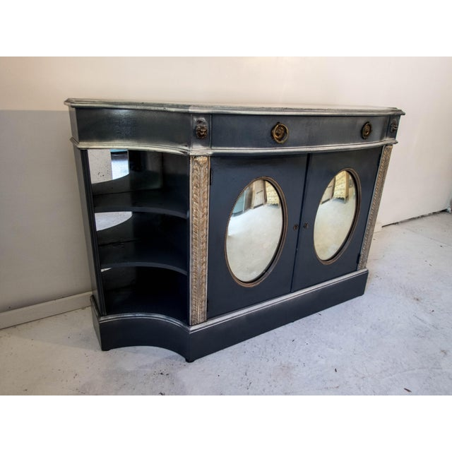 Antique Mirrored Bar Cabinet / Hall Table - Image 5 of 9