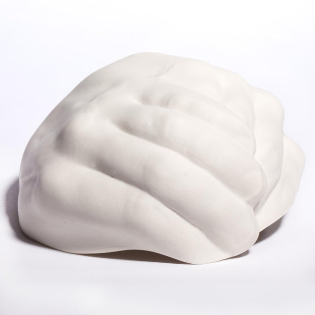 """Image of White Ceramic """"Giving Hands"""" Bowl"""