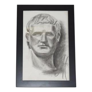 Vintage Charcoal Bust Sketch