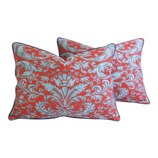 Italian Mariano Fortuny Caravaggio Feather/Down Pillows - Pair