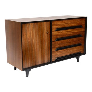 1952 Sideboard / Dresser by Milo Baughman for Drexel in Primavera Wood Finish.