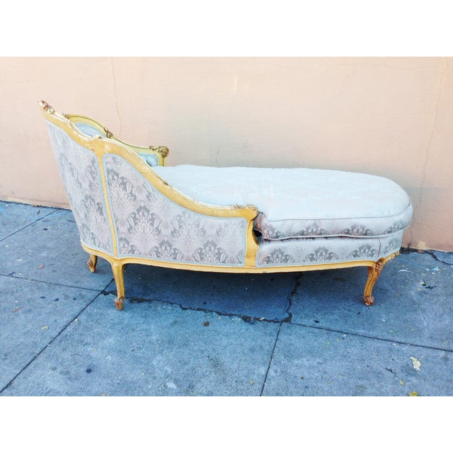 Antique French Chaise Lounge or Fainting Couch - Image 4 of 10