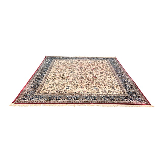 "Persian Floral Pattern Rug - 9'2"" x 13'4"" - Image 1 of 7"