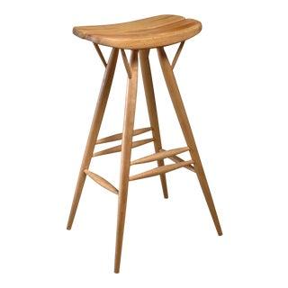 Rare Ilmari Tapiovaara blond bar stool, Finland, 1950s