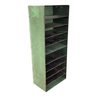 Vintage Industrial Slotted Shelf Organizer