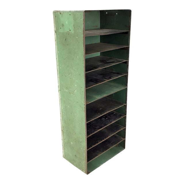 Vintage Industrial Slotted Shelf Organizer - Image 1 of 6