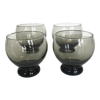 Gray Round Cocktail Glasses - Set of 4