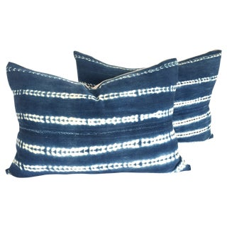 Indigo Decorative Lumbar Pillows - Pair