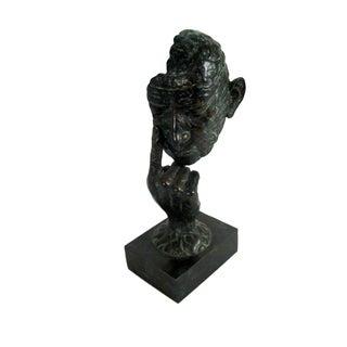 Maitland Smith Bronze Hands & Face Sculpture