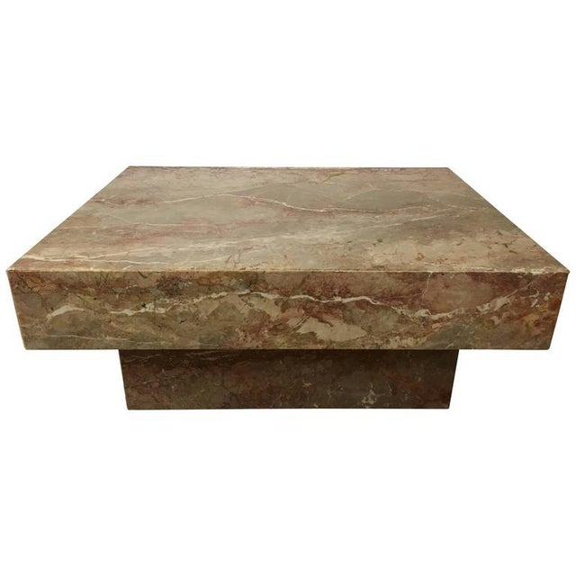 Substantial Rectangular Marble Cocktail Table - Image 7 of 7