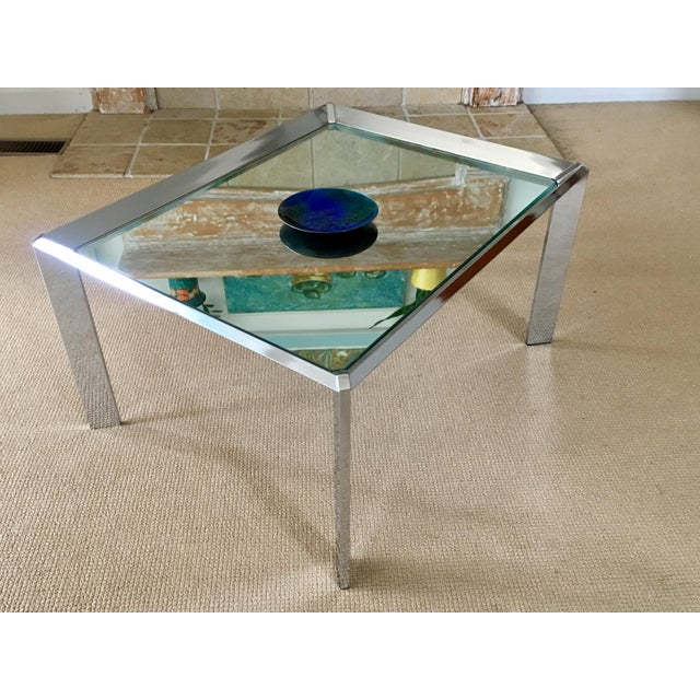 Chrome Chest Coffee Table: Chrome Mirrored Top Coffee Table