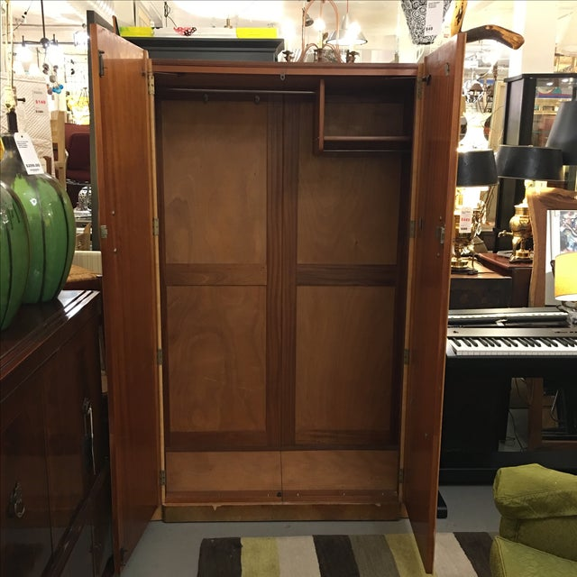 1920's Agran Clothing Armoire by London Furniture - Image 7 of 9