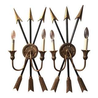 Neoclassical Arrow Sconces - A Pair