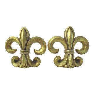 Gold Fleur De Lis Bookends - A Pair