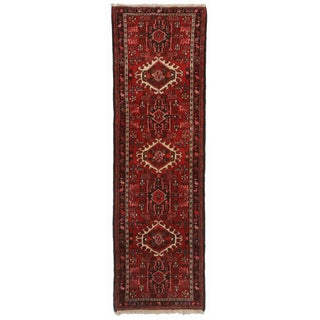 Hand Knotted Wool Persian Karajeh Runner - 2′1″ × 6′7″