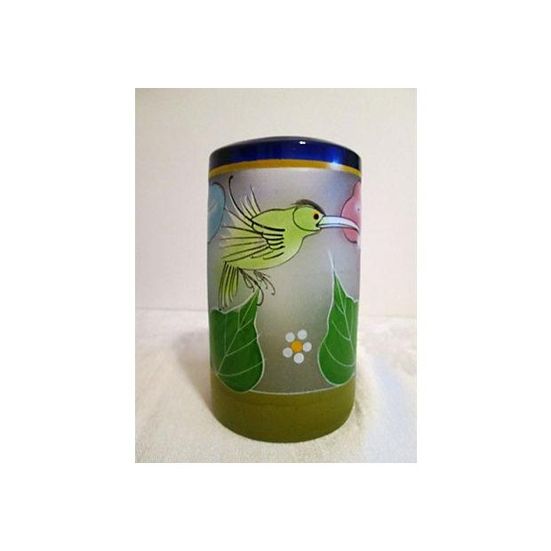Mexican Frosted Hummingbird Glasses - S/6 - Image 3 of 6