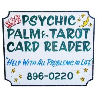 Psychic Palm & Tarot Card Reader Sign