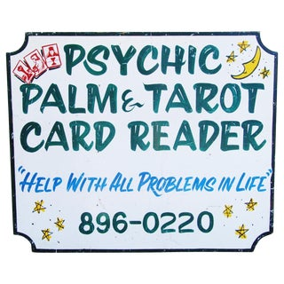 Psychic Palm & Tarot Card Reader Sign
