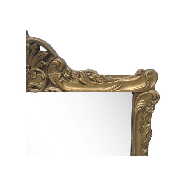 Gilt Art Nouveau Wall Mirror - Image 5 of 7