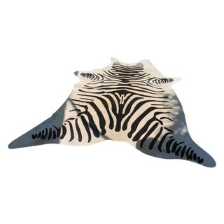 Zebra Hair on Cowhide Rug - 5′8″ × 6′6″