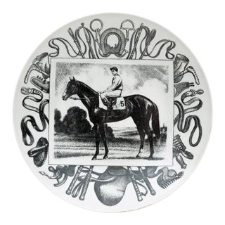 Piero Fornasetti Galoppo Horse Racing Plate