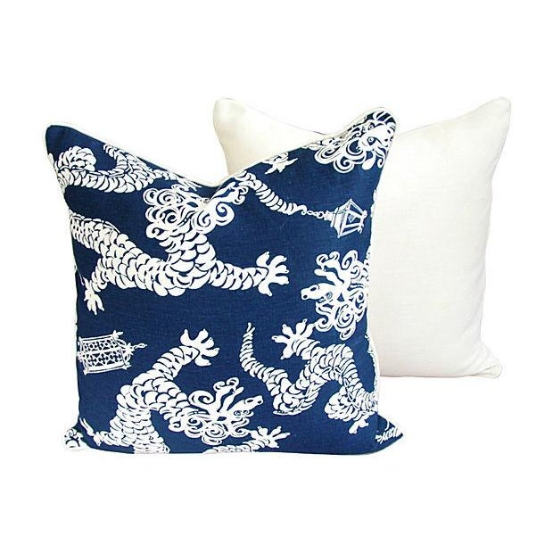 Lee Jofa Lilly Pulitzer Blue Pillows - A Pair - Image 4 of 7