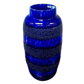 Scheurich Keramik Vintage Blue Fat Lava Floor Vase