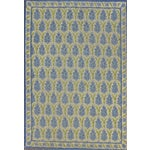 Image of Green & Blue Pinecone Needlepoint Rug