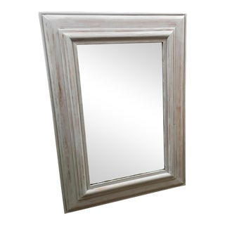 Rectangular Light Gray Wash Wooden Framed Mirror