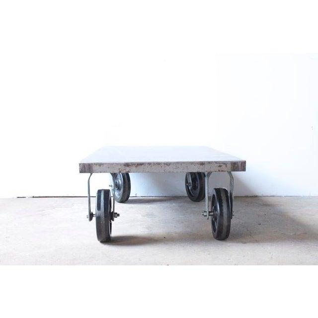 Industrial Metal Coffee Table - Image 5 of 7