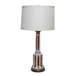 Bohemian Glass Table Lamp