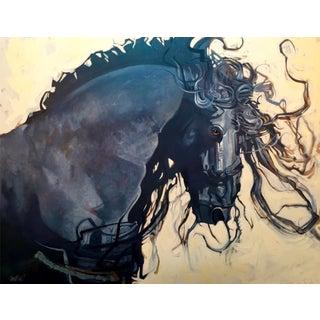 Premium Giclee Print, Friesian Stallion