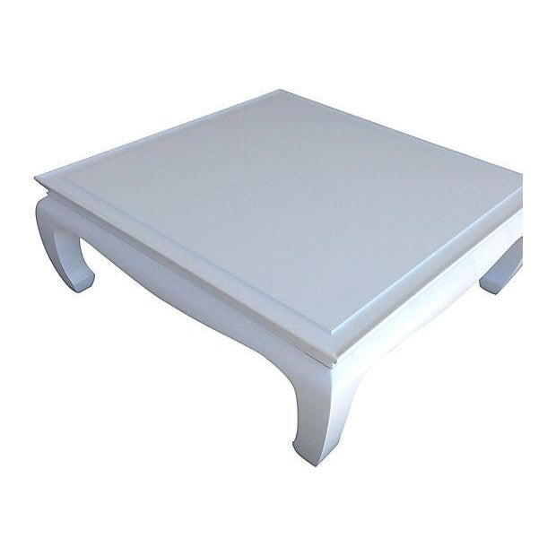 White Lacquered Ming Coffee Table - Image 5 of 5