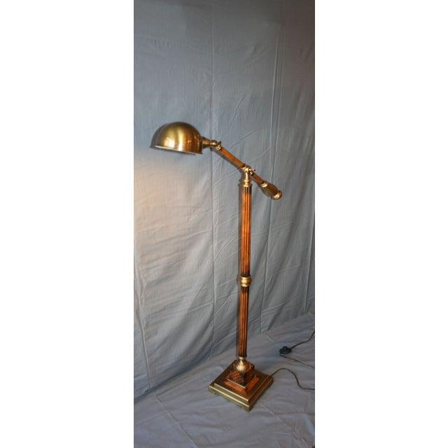 Wood & Bronze Floor Lamp - Image 3 of 6