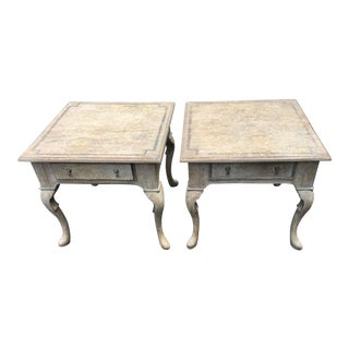 Vintage Paint Decorated Italian Side Tables - A Pair