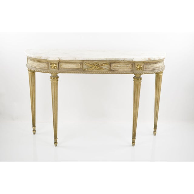 Marble-Topped French Style Console Table - 1940s - Image 2 of 8