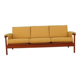 Mid Century Modern Mustard Sofa