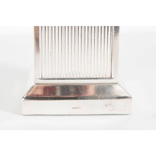 Mid-Century Modernist Art Deco Style Silver-Plated Bronze Tazza by Gucci - Image 9 of 10