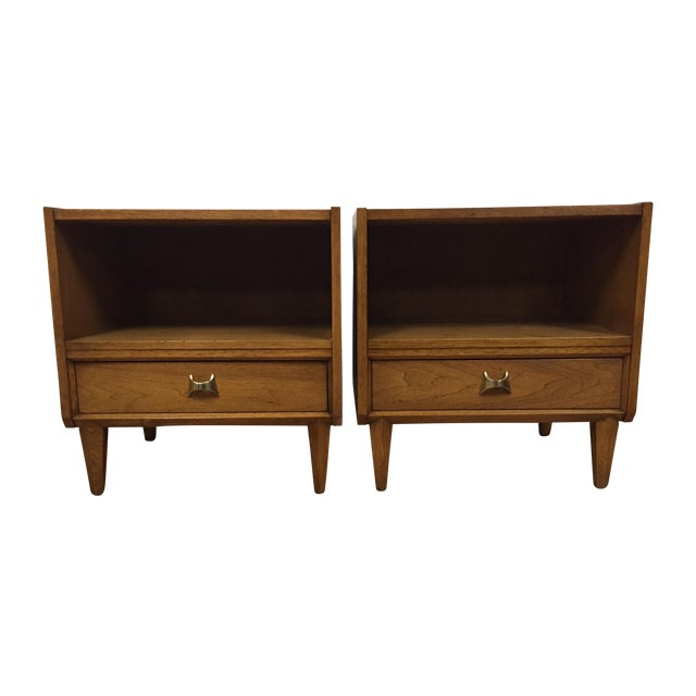 Brasilia Style Nightstands - a Pair - Image 1 of 11