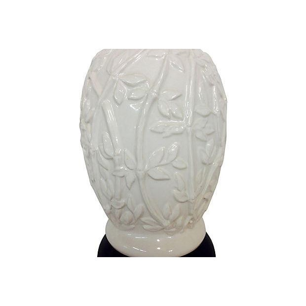 1960s Faux-Bamboo Ceramic Lamps - Pair - Image 3 of 5