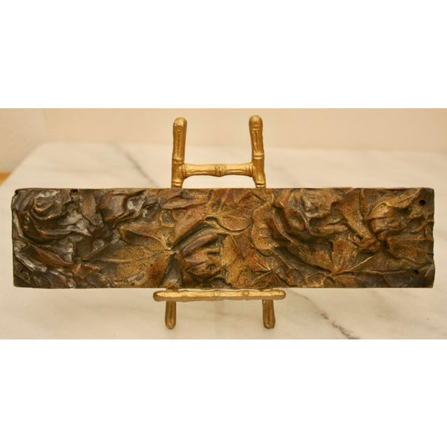 Bronze Abstract Panel on Faux Bamboo Easel - Image 2 of 8