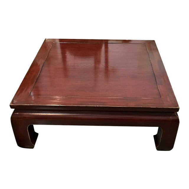 Traditional Coffee Tables Ethan Allen: Ethan Allen Ming Style Cherry Veneer Coffee Table