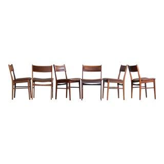 Vestervig Eriksen for Tromborg Rosewood & Leather Dining Chairs - Set of 6