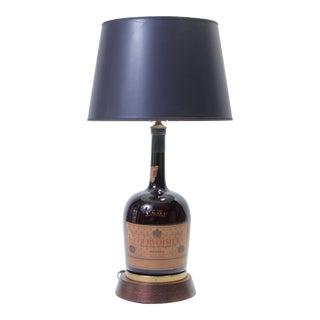 Vintage Courvoisier Bottle Lamp